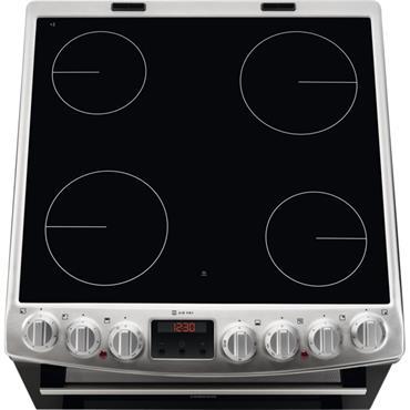 Zanussi 60cm Electric Cooker Black & Silver