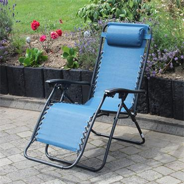 Zero Gravity Chair Blue Textilene