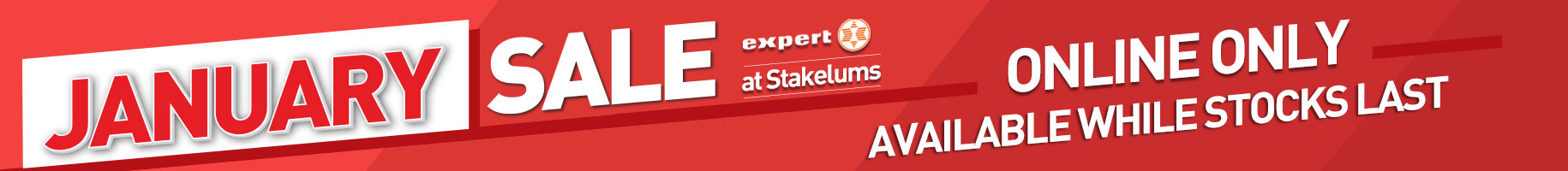 January Sale Now online at Stakelum.ie - Only available online