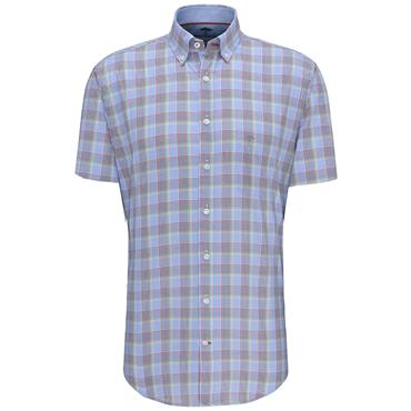 Fynch Hatton S/S Shirt - Multi Check