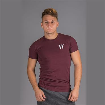 CORE MUSCLE FIT T-SHIRT - BURG
