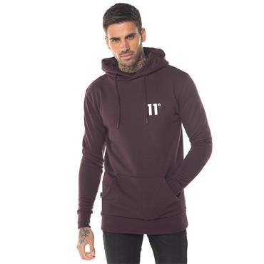 CORE PULL OVER HOODIE - Mulled Red
