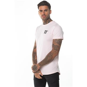 11 Degrees Core Muscle Fit T-Shirt - Powder Pink
