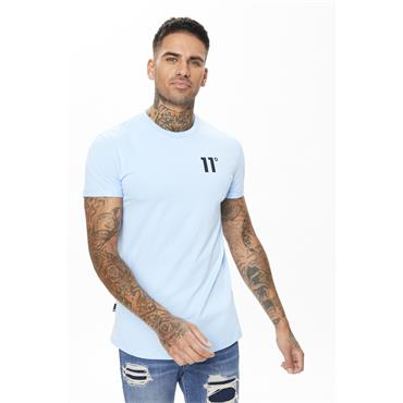 11 Degrees Core Muscle Fit T - Air Blue