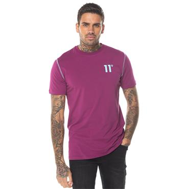 Contrast Logo Fit T - Raspberry