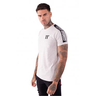 Taped Muscle Fit T-Shirt, Tornado Marl - 11 Degrees