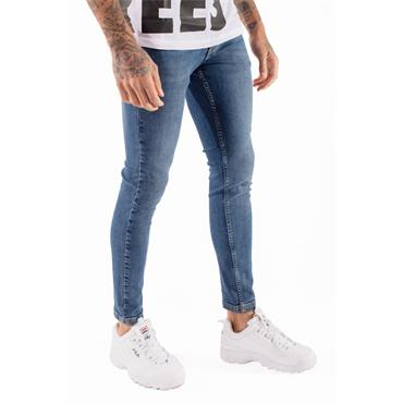 ESSENTIAL SUPER STRETCH JEANS SKINNY FIT - Med Blue Wash