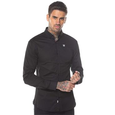 11 Degrees Long Sleeve Logo Shirt - Black
