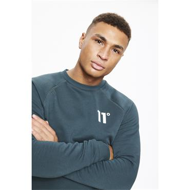 11 Degrees Core Sweat - DARKEST SPRUCE GREY