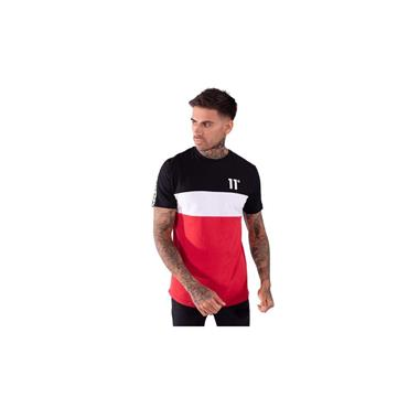 Domino T Shirt - Black White Red