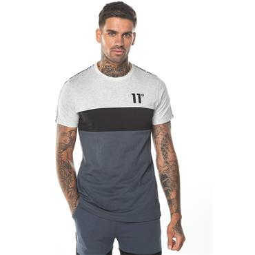 DOMINO T-SHIRT - ANTHRACITE, BLACK & GREY MARL