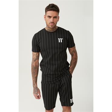 Stripe T-Shirt, Black - 11 Degrees