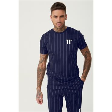 Stripe T-Shirt, Navy - 11 Degrees