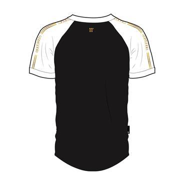 Ringer T - Black White Gold