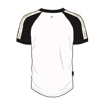Ringer T-Shirt, White/Black/Gold - 11 Degrees