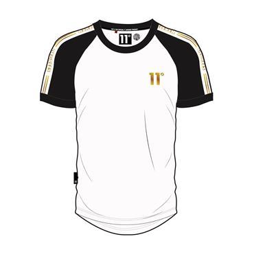 Ringer T - White Black Gold
