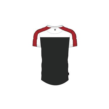 White & Red Anthra Cut Off T-Shirt - 11 Degrees