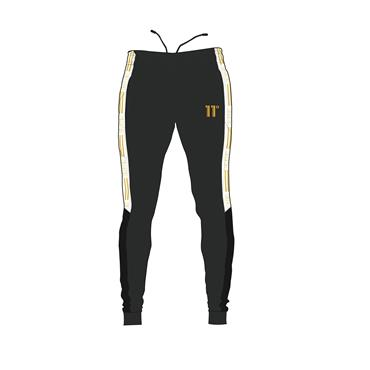 TAPED POLY JOGGERS - Black Antra Gold
