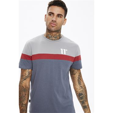 11 Degrees Carbon Panel T Shirt - An/silver/red