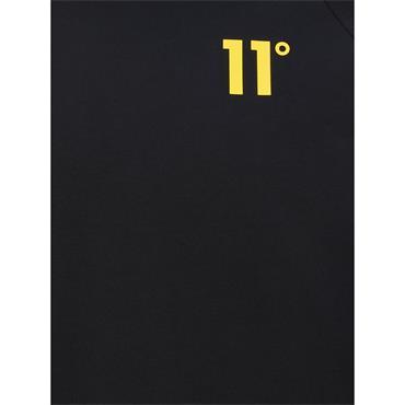 11 Degrees Ringer T-Shirt - BLACK / SKI PATROL Red