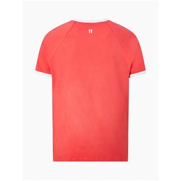 11 Degrees Ringer T-Shirt - SKI PATROL RED / WHITE