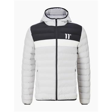 11 Degrees COLOUR BLOCK SPACE JACKET - Vapour Grey Black White