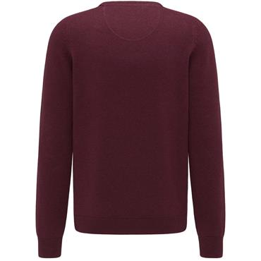 Fynch Hatton Crew Neck - Burgundy