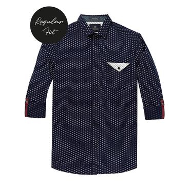 Shirt With Chest Pocket - Print