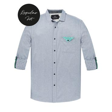 Shirt With Chest Pocket - Navy
