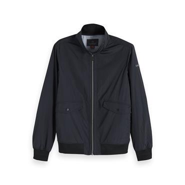 Classic Short Jacket In Nylon Quality - Black