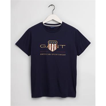 Gant Archive Shield T-Shirt - Evening Blue