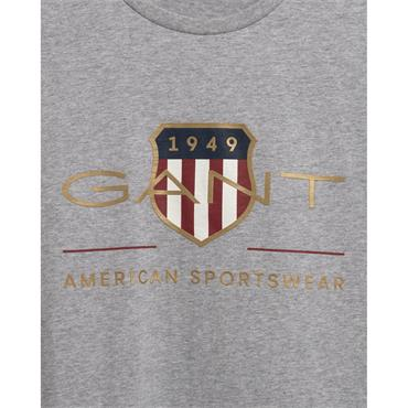 Gant Archive Shield T-Shirt - Grey