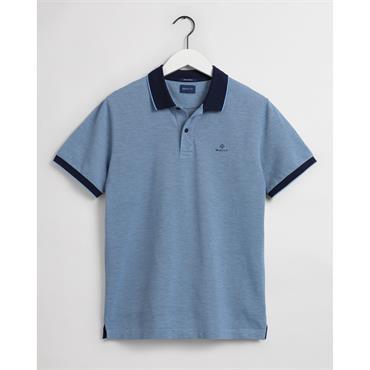 Gant 4 Colour Oxford Pique Polo - Powder Blue