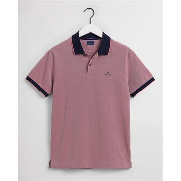 Gant 4 Colour Oxford Pique Polo - Paradise Pink