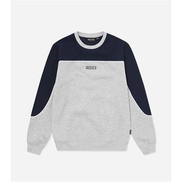 Nicce Ark Sweat - Grey Marl Navy