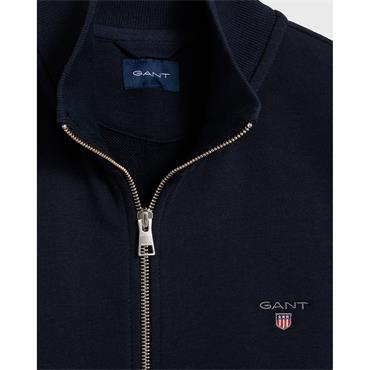 Gant Full Zip Cardigan - Evening Blue