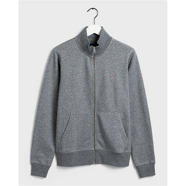 Gant Full Zip Cardigan - Dark Grey Mel