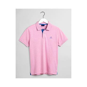 Contrast Collar Pique Polo - 698