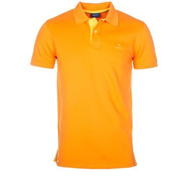 Gant Contrast Collar Polo - Savannah Orange