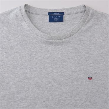 Gant Original T Shirt - Light Grey