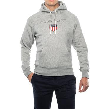 Gant Shield Hoodie - Grey