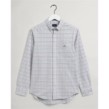 Gant Beefy Oxford Check - Cabernet Red