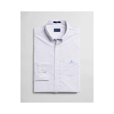 Gant Micro Dot Print Reg Button Down Shi - White