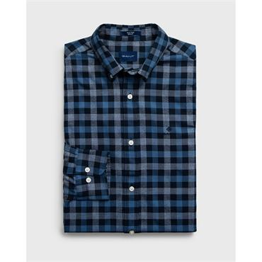 Gant OXF HEATHER GINGHAM REG LBD - Navy