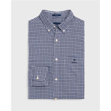 O1. Windblown Oxford Check Teg Bd - 423 Persian Blue