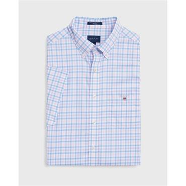 The B-Cloth 3col Gingham Reg Ss Bd - 468 Capri Blue