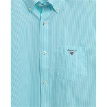 Gant Broadcloth Banker S/S Shirt - Aqua