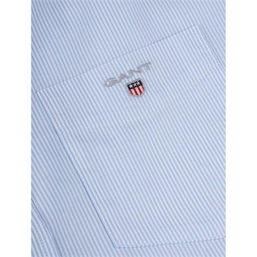 Gant Broadcloth Banker S/S Shirt - Capri Blue