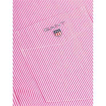 Gant Broadcloth Banker S/S Shirt - Cabaret Pink