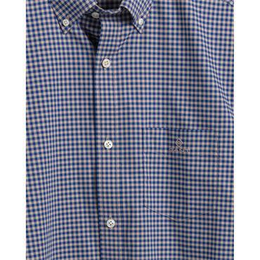 Gant Broadcloth 2 Col Gingham Shirt - Dry Sand